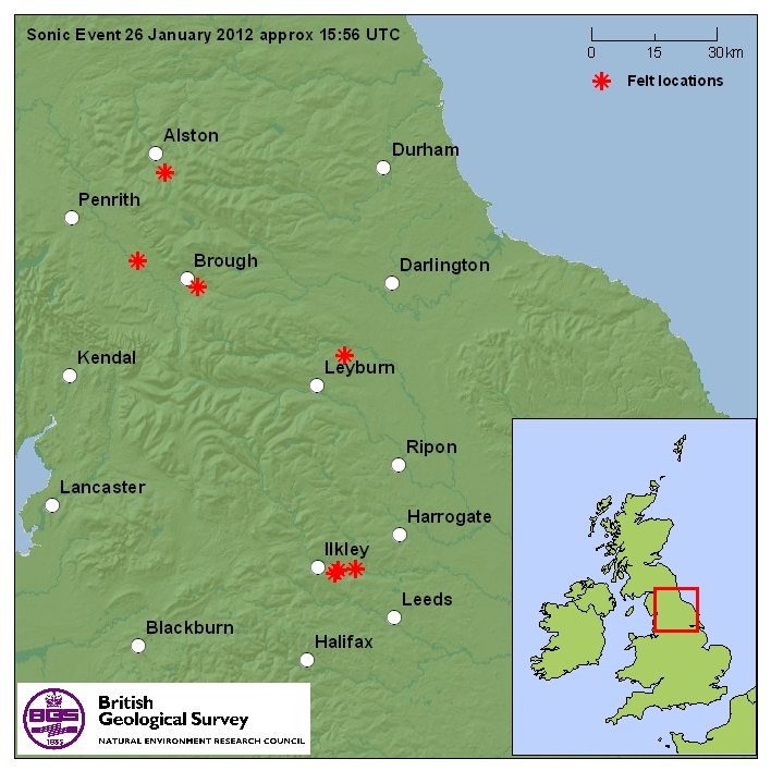 Map showing the distribution of felt reports. CLICK FOR A LARGER VERSION